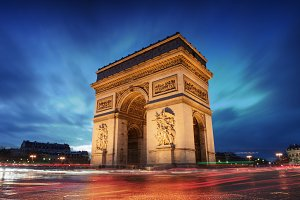 Arc de triomphe - Paris city