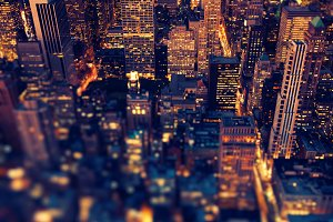 New York - Manhattan with soft focus