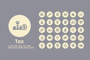 Tax simple icons
