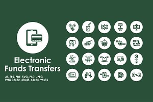 Electronic Funds Transfers icons
