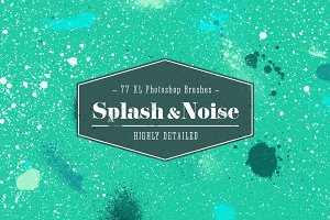 XL Handmade Splatter & Noise Brushes