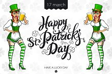 Saint Patrick's Day. Irish Girl