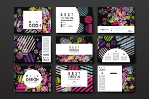 Abstract Card Templates