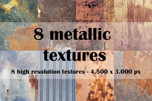 8 metallic textures