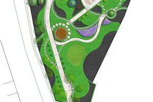 Landscaping site development plan