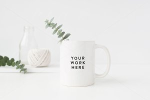 MUG mock up - PSD - Lettering