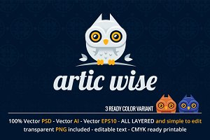 Artic Wise Owl Logo Design