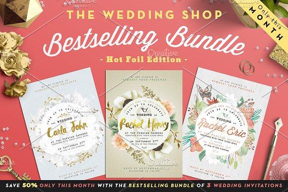 B Wedding Invitations Coupons: Bestselling Bundle I -50%