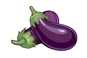 Couple of eggplants