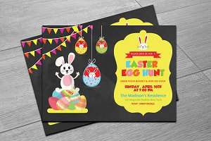 Easter Egg Hunt Invitation Flyer-215