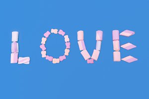 Love is Sweet Vanilla Letters