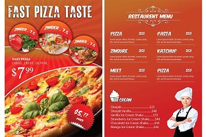 FAST FOOD FLYER & MENU