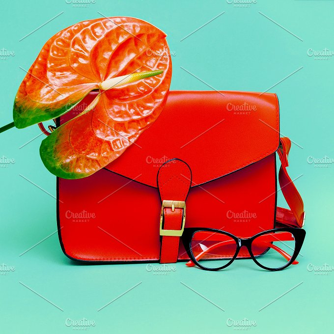 Focus on Red. Trend Accessories - Beauty & Fashion