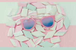 Sunglasses and Sweet Backg