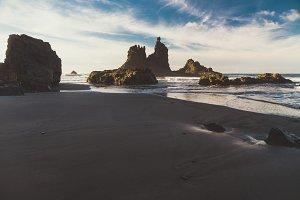 Rocky coast of Benijo beach