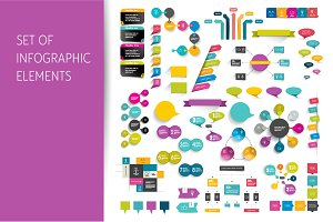 Info graphics set elements.