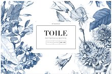 Toile Fleurie, Pattern & Motifs! by  in Graphics