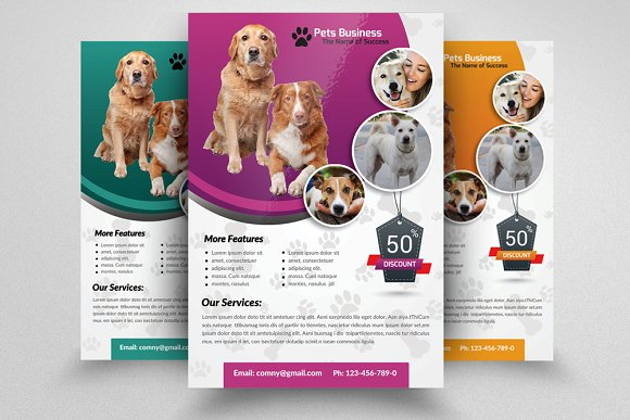 Pet shop business flyer template flyer templates on for Puppy for sale flyer templates