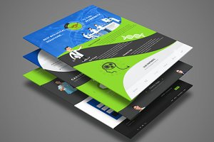 Responsive Curved Web Template