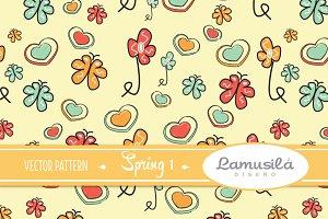 Spring 1 Vector Pattern