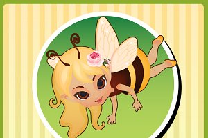 Little fairies, cartoon character