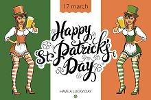 Happy St Patricks Day Beer Girl