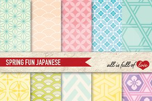 Pastel Japanese Backgrounds Papers