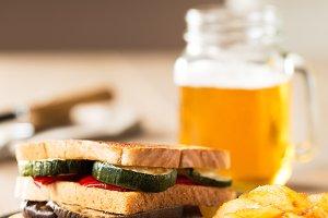 Vegetables sandwich