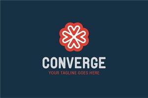 Converge logo vector