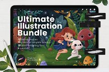 Ultimate Procreate Illustration Kit by  in Add-Ons