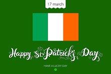lettering St. Patricks Day girl beer