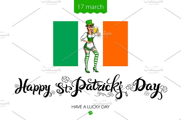 St. Patrick's Day lettering vector
