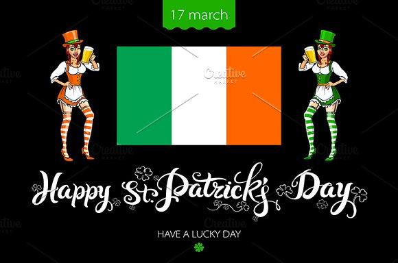St. Patrick's Day lettering irish