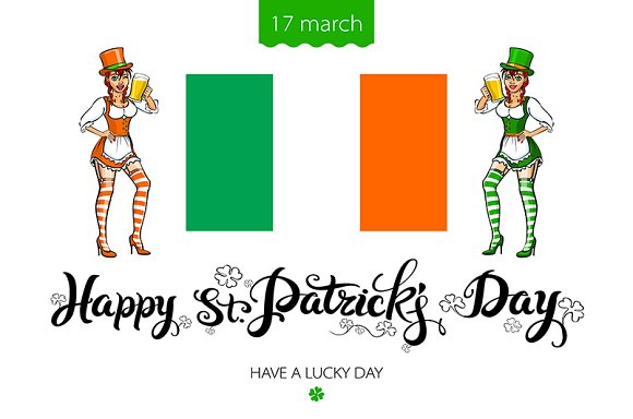 St. Patrick's Day lettering vector - Graphics