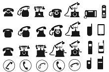 Vector telephone icons set