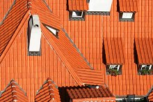 Prague red roofs