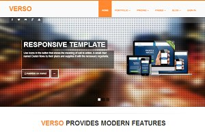 VERSO responsive Bootstrap template