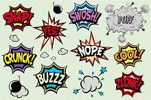 Comic book elements set 4
