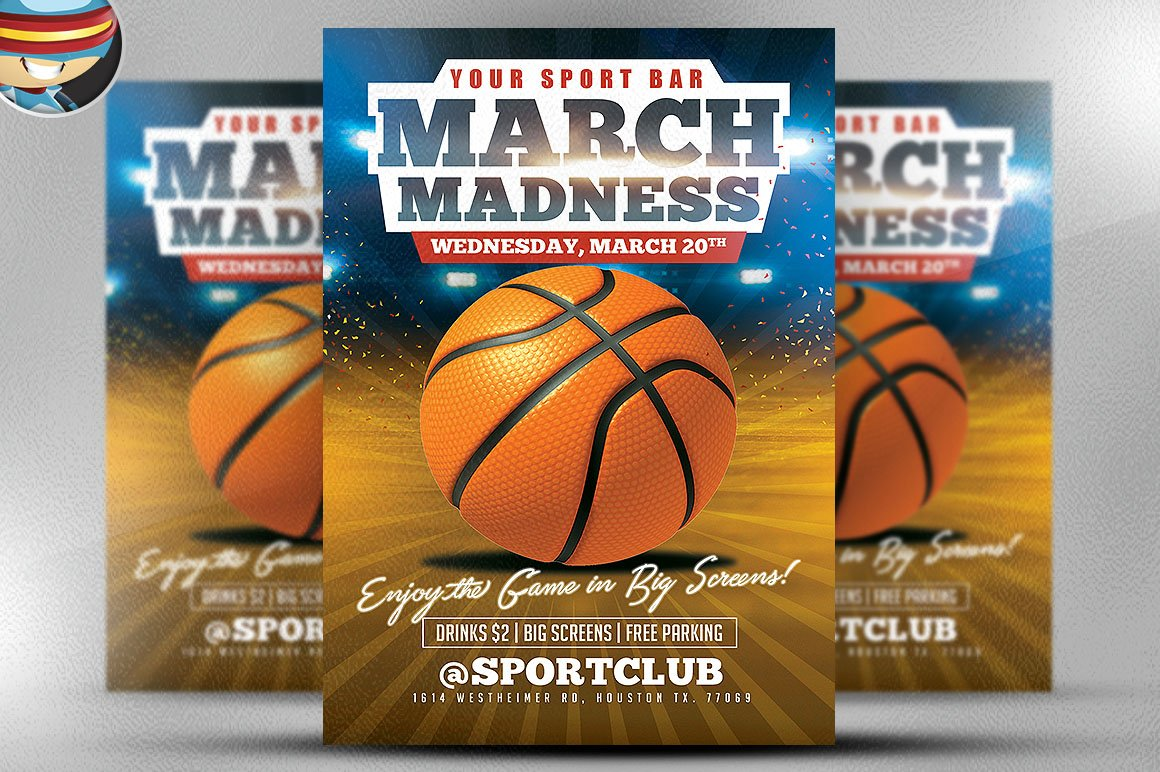 March madness basketball flyer flyer templates for Basketball flyer template free
