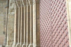 teWooden door of a medieval castlest