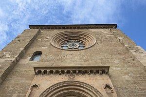 Main facade of a Gothic castle