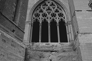 Gothic windows of a castle type