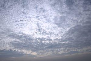 Sky full of clouds at dawn