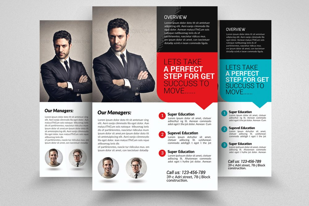 Insurance company business flyer flyer templates creative market altavistaventures