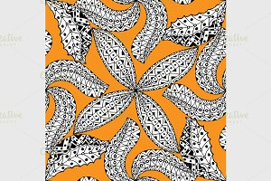 Black and orang pattern.