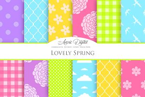 Lovely Spring Digital Paper