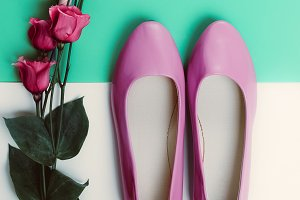 Ladies Shoes and Flower