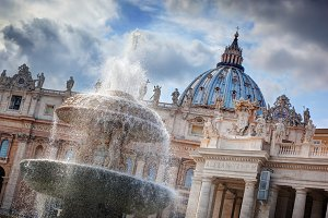 Architecture of Vatican City.