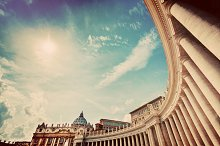 St. Peter's Basilica colonnades.