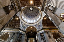 Inside of St. Peter Basilica.